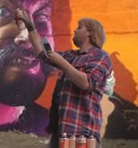 street artist smug at work in limerick