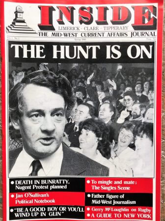 First Edition Limerick Publications: No. 4 INSIDE MAGAZINE 1986