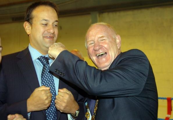 Mayor of Limerick, Cllr Gerry McLoughlin ready to hand on the baton