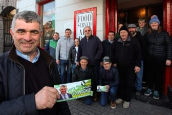 On the canvass with Cllr Richard O'Donoghue in county Limerick