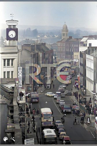 Streets of Limerick: O'Connell Street, Patrick Street & Rutland Street 1970s in Colour