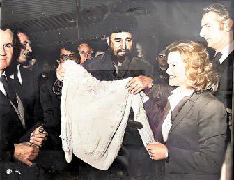 Fidel Castro in Shannon in the 1980s