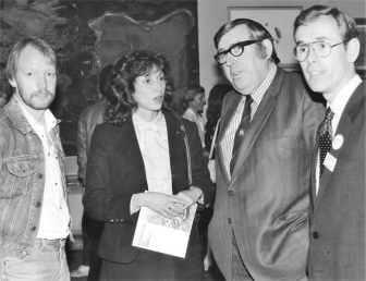 At the Opening of EVA 1980
