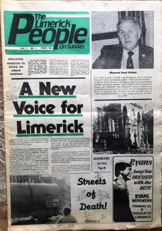 First Edition Limerick Publications No. 2 'Limerick People on Sunday' 1980