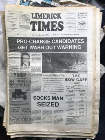 First Edition Limerick Publications No.8 'Limerick Times' 1991